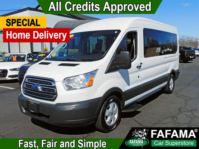 2018 Used Ford Transit Passenger Wagon T-350 XLT Med Roof Passanger Van at  Fafama Auto Sales Serving Boston, Milford, Framingham, MA, IID 19269512