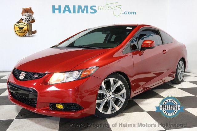 Used Honda Civic Coupe >> 2012 Used Honda Civic Coupe 2dr Manual Si W Navi At Haims Motors Serving Fort Lauderdale Hollywood Miami Fl Iid 18949171