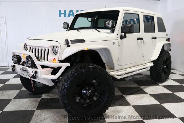 Custom Jeep Wrangler >> 2013 Used Jeep Wrangler Unlimited Custom Jeeps At Haims Motors Serving Fort Lauderdale Hollywood Miami Fl Iid 18974287
