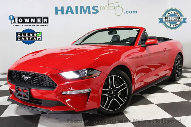2018 Used Ford Mustang Ecoboost Convertible At Haims Motors Serving Fort Lauderdale Hollywood Miami Fl Iid 19157208
