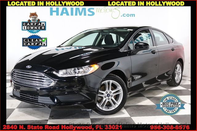 Used Ford Fusion Hybrid >> 2018 Used Ford Fusion Hybrid Se Fwd At Haims Motors Serving Fort Lauderdale Hollywood Miami Fl Iid 19714451