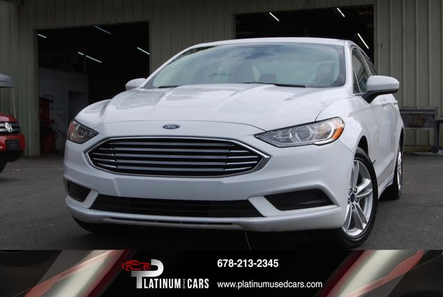 Used Ford Fusion Hybrid >> 2018 Used Ford Fusion Hybrid Se Fwd At Platinum Used Cars Serving Roswell Alpharetta And Cumming Ga Iid 19466882