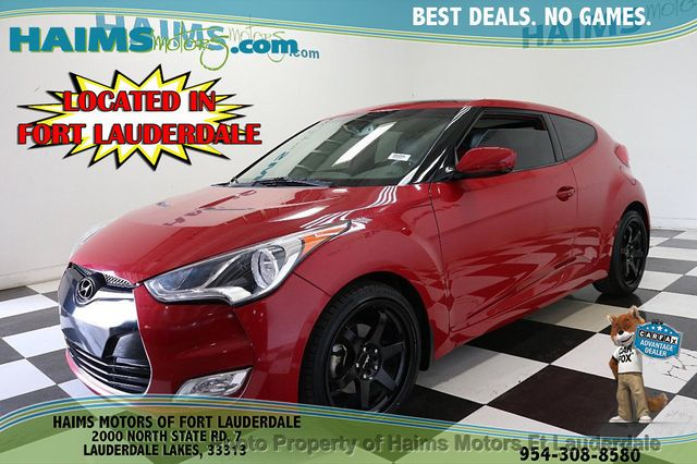 2013 Used Hyundai Veloster 3dr Coupe Automatic w/Red Int at Haims Motors  Serving Fort Lauderdale, Hollywood, Miami, FL, IID 18932089