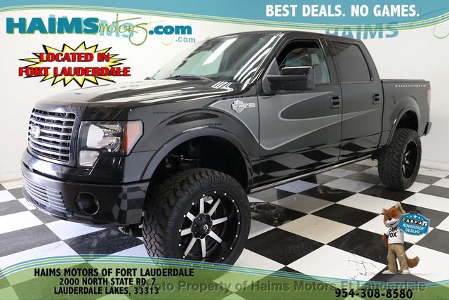 2012 Used Ford F 150 4wd Supercrew 145 Harley Davidson At Haims Motors Serving Fort Lauderdale Hollywood Miami Fl Iid 19292871