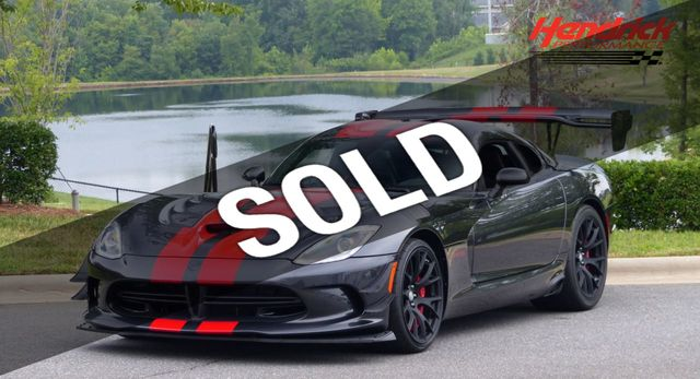 2017 Used Dodge Viper Final Year Viper Acr 645 Hp Only 81 Miles At Hendrick Performance Serving Charlotte Nc Iid 17958361