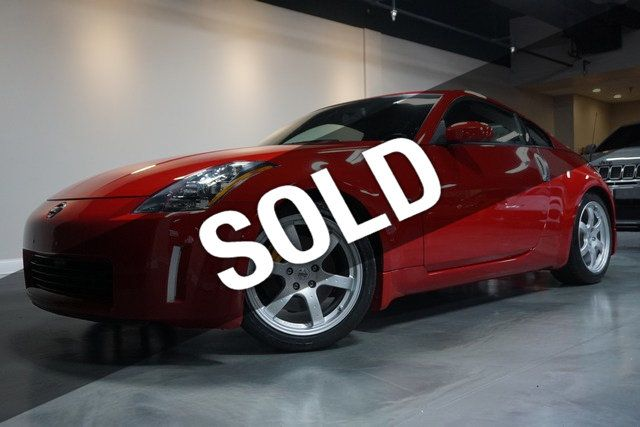 2003 NISSAN 350Z TRACK PKG 6-SPEED MANUAL RED/BLK BREMBO BRAKES ONLY 36K MILES!!