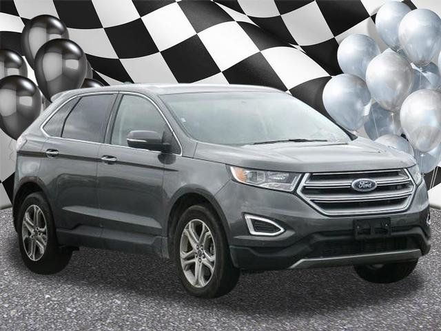 Ford Edge Used >> 2018 Used Ford Edge Titanium Awd At F X Caprara Honda Of Watertown Ny Iid 18001023