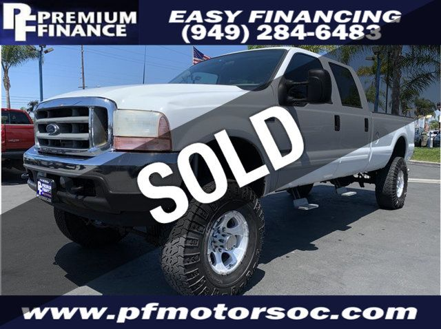 2001 Used Ford F350 Super Duty Crew Cab Xlt 4x4 7 3l Long Bed Turbo Diesel At Premium Finance Serving Stanton Ca Iid 19239999