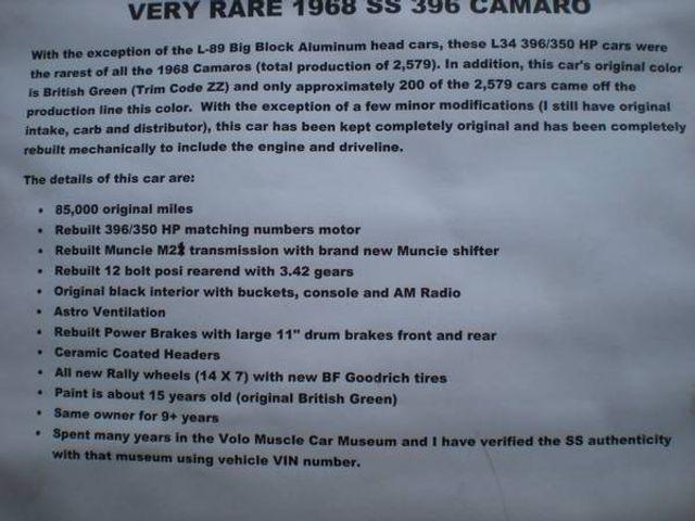 1968 Chevrolet Camaro 5