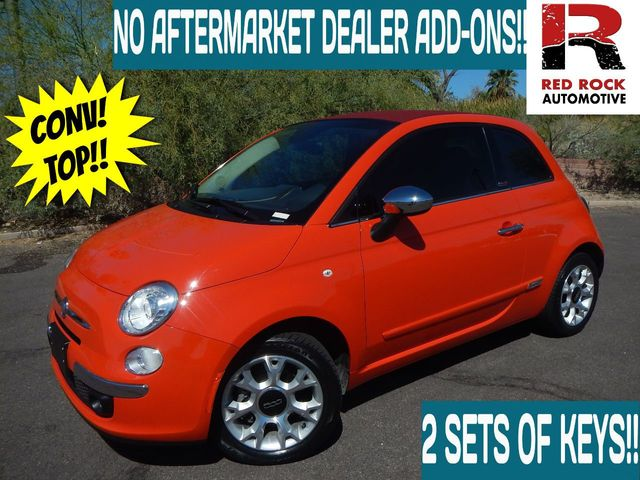 2017 Used Fiat 500c Lounge Cabrio At Red Rock Automotive Serving Scottsdale Az Iid 19412569
