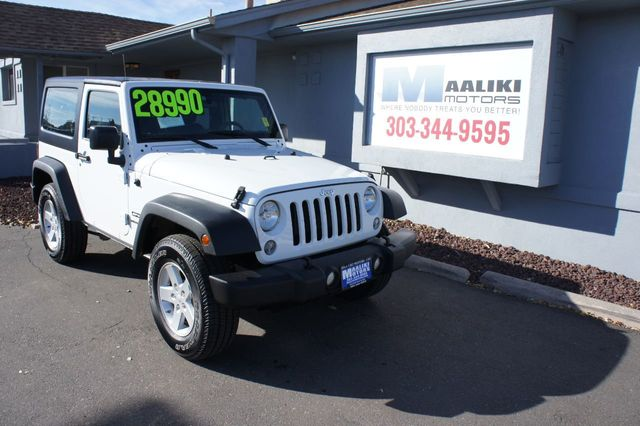 Used Jeep Wrangler Sport >> 2016 Used Jeep Wrangler 4wd 2dr Sport At Maaliki Motors Serving Aurora Denver Co Iid 18232208
