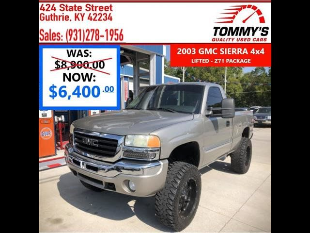 Used Gmc Sierra >> 2003 Used Gmc Sierra 1500 1500 At Tommy S Quality Used Cars Serving Guthrie Ky Iid 19311078