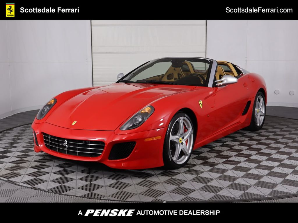 Pre Owned 2011 Ferrari 599 Sa Aperta Convertible At Scottsdale Ferrari Cn0099 Penske Sale