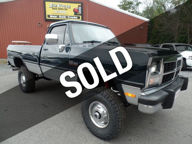 4X4 For Sale >> 1993 Used Dodge Ram 250 Power Ram 4x4 At Jim Babish Auto Sales Inc Serving Johnstown Pa Iid 18064436