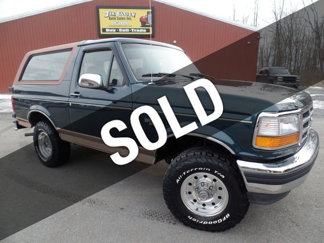 Used Ford Bronco >> 1995 Used Ford Bronco Eddie Bauer 4x4 At Jim Babish Auto Sales Inc Serving Johnstown Pa Iid 18699261