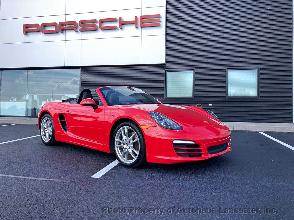 Pre-Owned 2014 Porsche Boxster Beautiful Guards Red on Black! Manual Transmission
