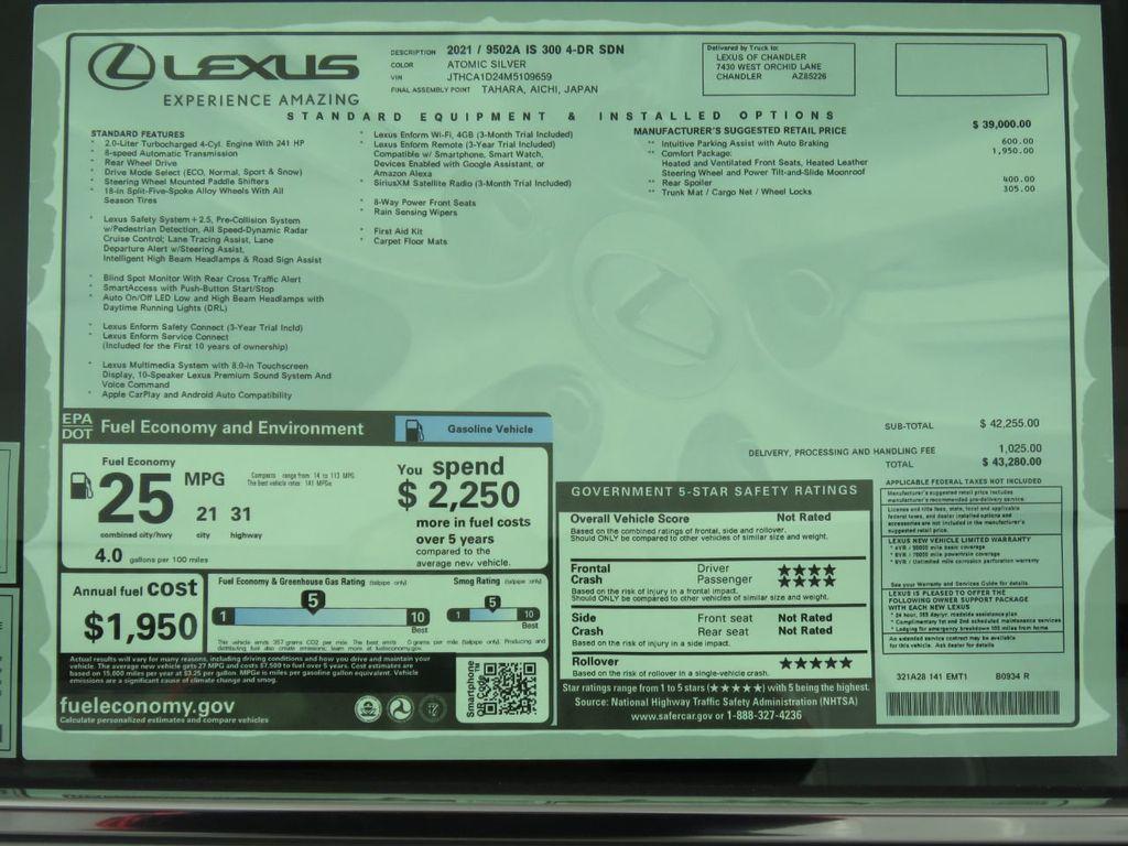New 2021 Lexus IS IS 300 RWD