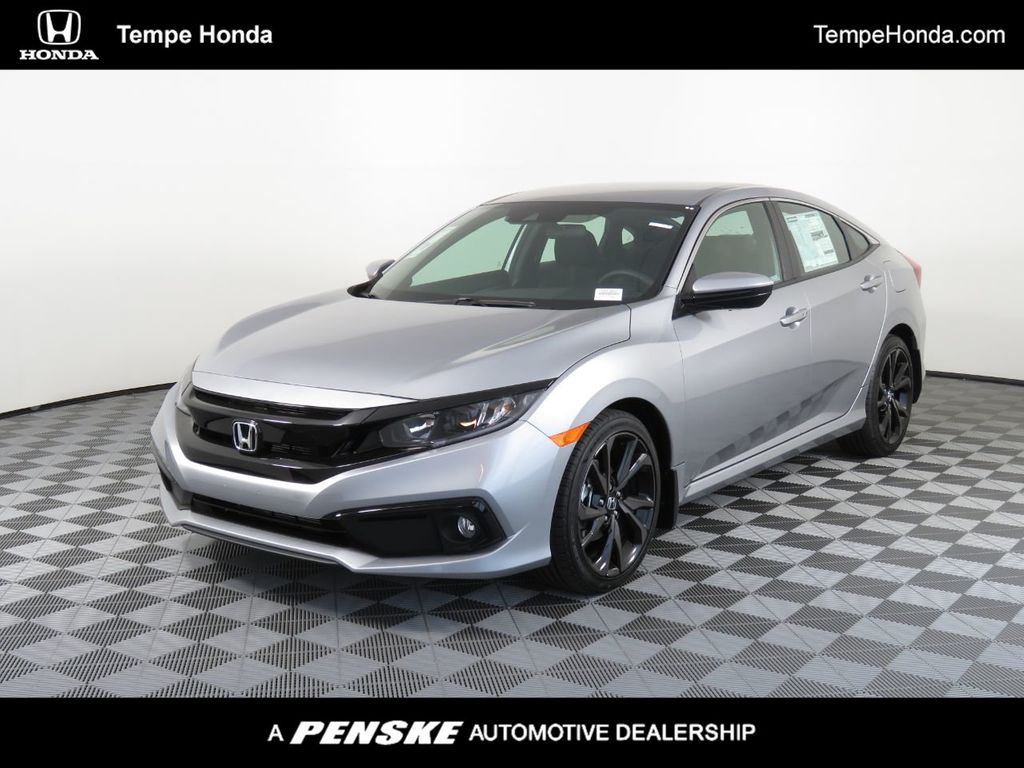 New 2020 Honda Civic Sedan Sport Cvt Sedan In Tempe H01421 Tempe Honda