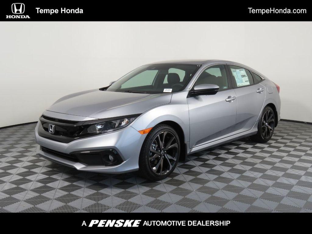 New 2020 Honda Civic Sedan Sport Cvt Sedan In Phoenix H01466 Penske Automall