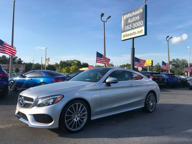 2017 Used Mercedes-Benz C300 Cpe-Navi Ready-Back Up Cam-Bluetooth-Htd  Seats-Amg pkg-Roof at Michaels Autos Serving Orlando, FL, IID 19055386