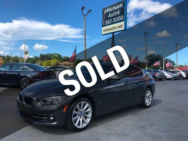 2017 Used BMW 330e W/Spt Pkg Dap+ 330e-Sport Pkg -Red  Interior-Navi-Sunroof-DAP+Bluetooth- at Michaels Autos Serving Orlando, FL,  IID 19223773