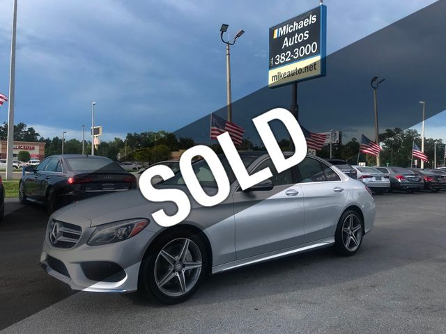 2016 Used Mercedes-Benz C300 4Matic-Amg Sport Pkg-Navi-Pano-Night  Vision-Keyless         at Michaels Autos Serving Orlando, FL, IID 19289797