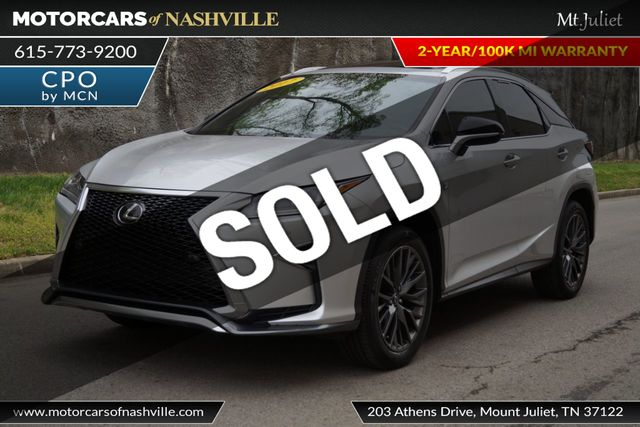 2017 Used Lexus Rx Rx 350 F Sport Fwd At Motorcars Of Nashville Mt Juliet Serving Mt Juliet Tn Iid 18708112