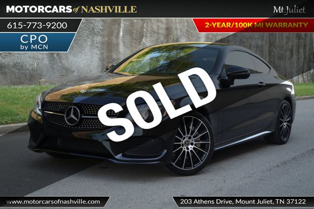 2018 Used Mercedes Benz C 300 Coupe Amg Line At Motorcars Of Nashville Mt Juliet Serving Mt Juliet Tn Iid 18917734