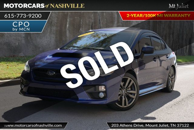 Subaru Warranty 2017 >> 2017 Used Subaru Wrx Premium Manual At Motorcars Of Nashville Mt Juliet Serving Mt Juliet Tn Iid 19379494