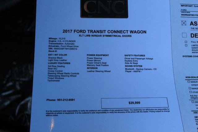 2017 Ford Transit Connect Wagon For Sale