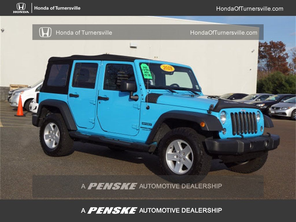 Jeep Dealers South Jersey >> 2018 Used Jeep Wrangler Jk Unlimited Unlimited Sport At