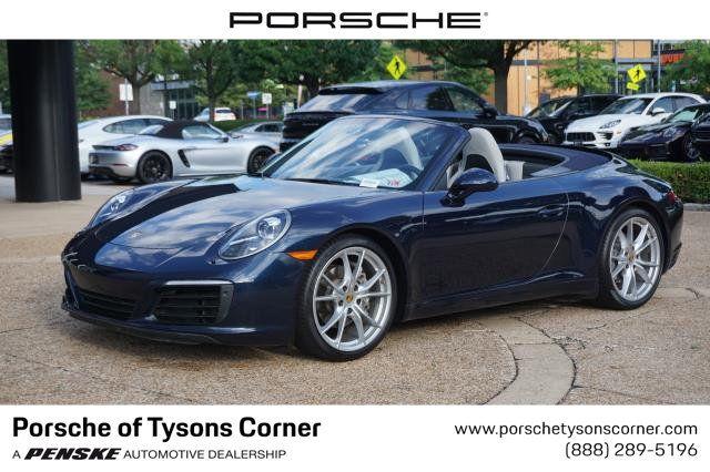 Certified Pre Owned 2017 Porsche 911 Carrera Cabriolet Convertible At Porsche Of Tysons Corner Up23412 Penske Sale