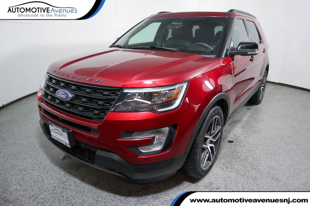 2017 Ford Explorer Sport 4WD w/ Equipment Group 401 A & Twin Panel Moonroof Four Wheel Drive SUV