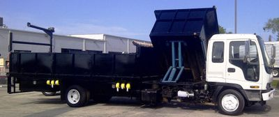 2017 ADVANCED FABRICATORS 18F24S.6D 18FT STEEL FLATBED WITH 24IN SIDES .6FT SIDE DUMPER. - Click to see full-size photo viewer