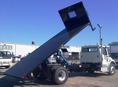 2017 ADVANCED FABRICATORS 20FB96D ..20FT STEEL FLATBED DUMP 96IN WIDE - Click to see full-size photo viewer