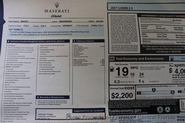 2017 Maserati Ghibli S 3.0L - 16874715 - 45