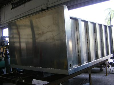 2018 ADVANCED FABRICATORS 12TD48PS ..12FT ALUM TRASH DUMP BODY. 48IN POST SIDES - Click to see full-size photo viewer