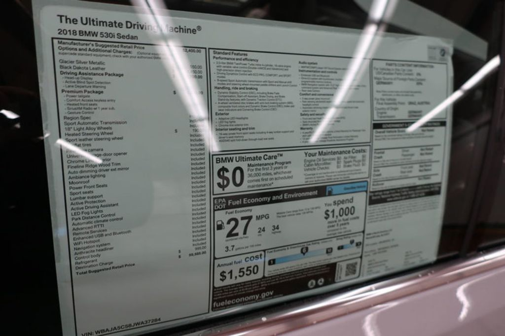 2018 BMW 5 Series 530i - 17063247 - 32