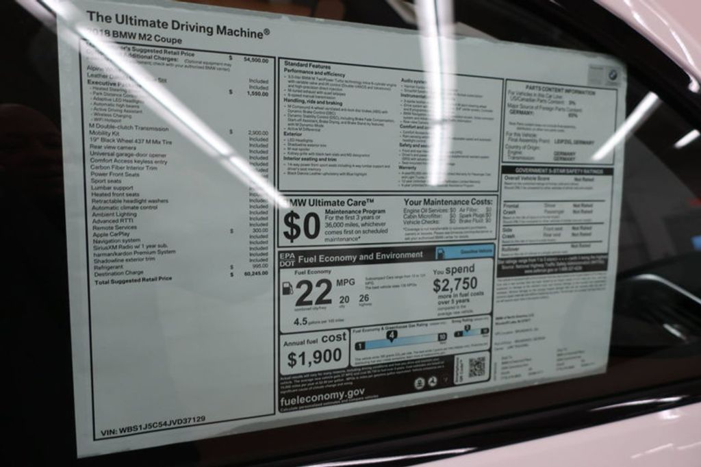 2018 BMW M2 2DR CPE - 17330705 - 30