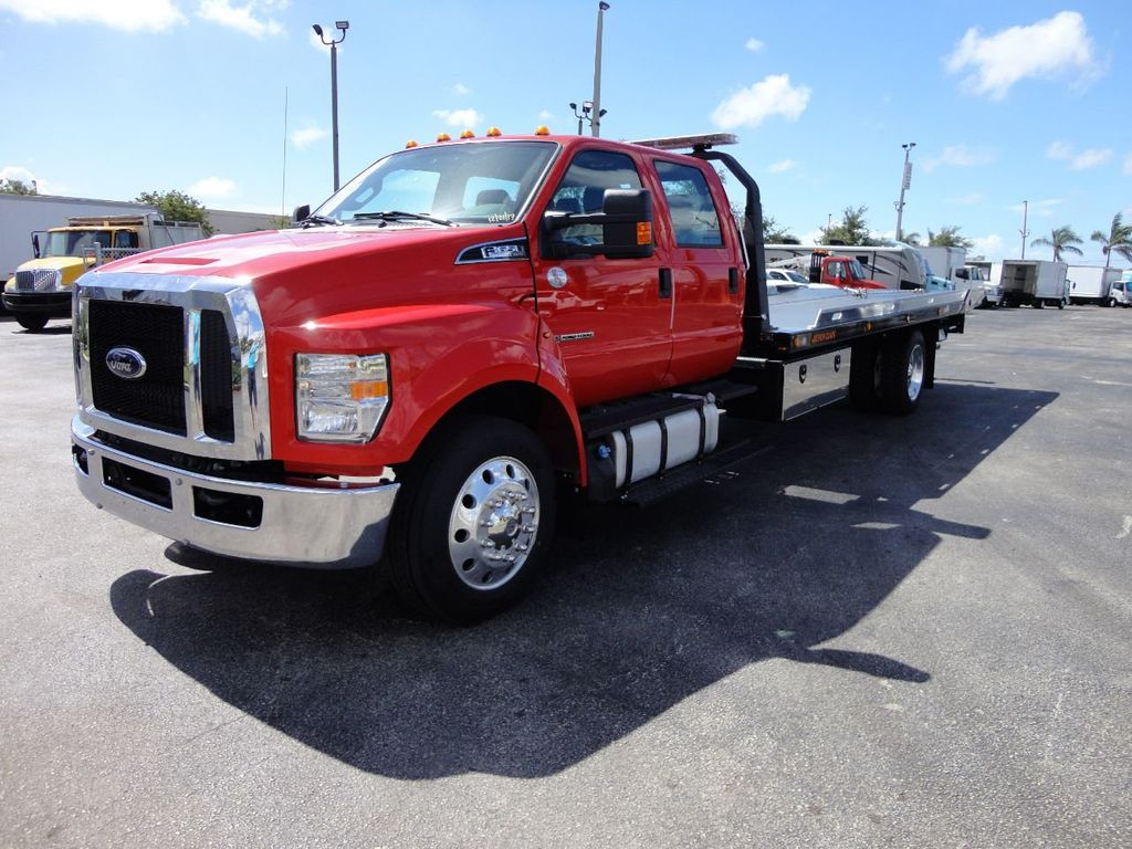 2018 Ford F650 CREW CAB..22FT XLP-6 JERRDAN ROLL-BACK SHARK.AIR RIDE. - 17637495 - 1