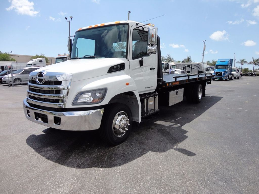 2018 HINO 258LP 21FT X 96 WIDE JERRDAN ROLLBACK..HYD BRAKE.SPRING RIDE - 16370364 - 0