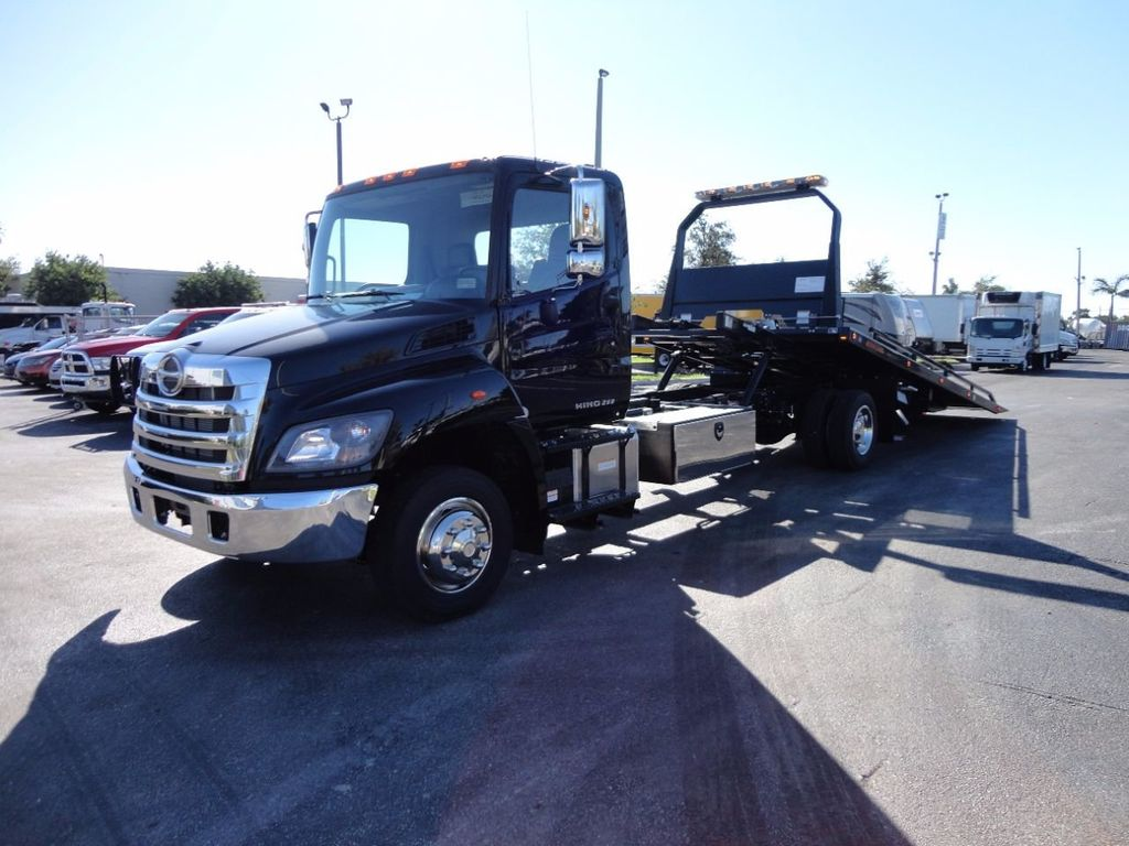 2018 HINO 258LP 21FT X 96 WIDE JERRDAN ROLLBACK..HYD BRAKE.SPRING RIDE - 16977457 - 0
