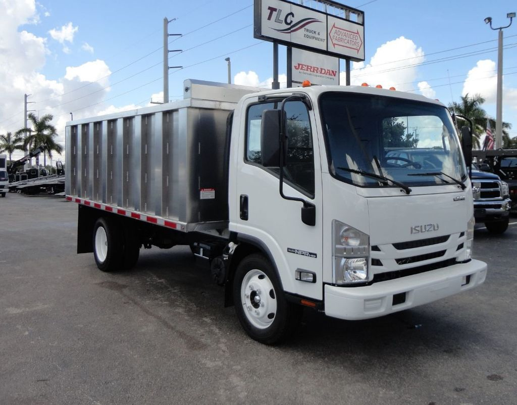2018 Isuzu NPR HD 14FT ALUMINUM LANDSCAPE DUMP TRUCK ADVANCED FABRICATORS - 18156713 - 0