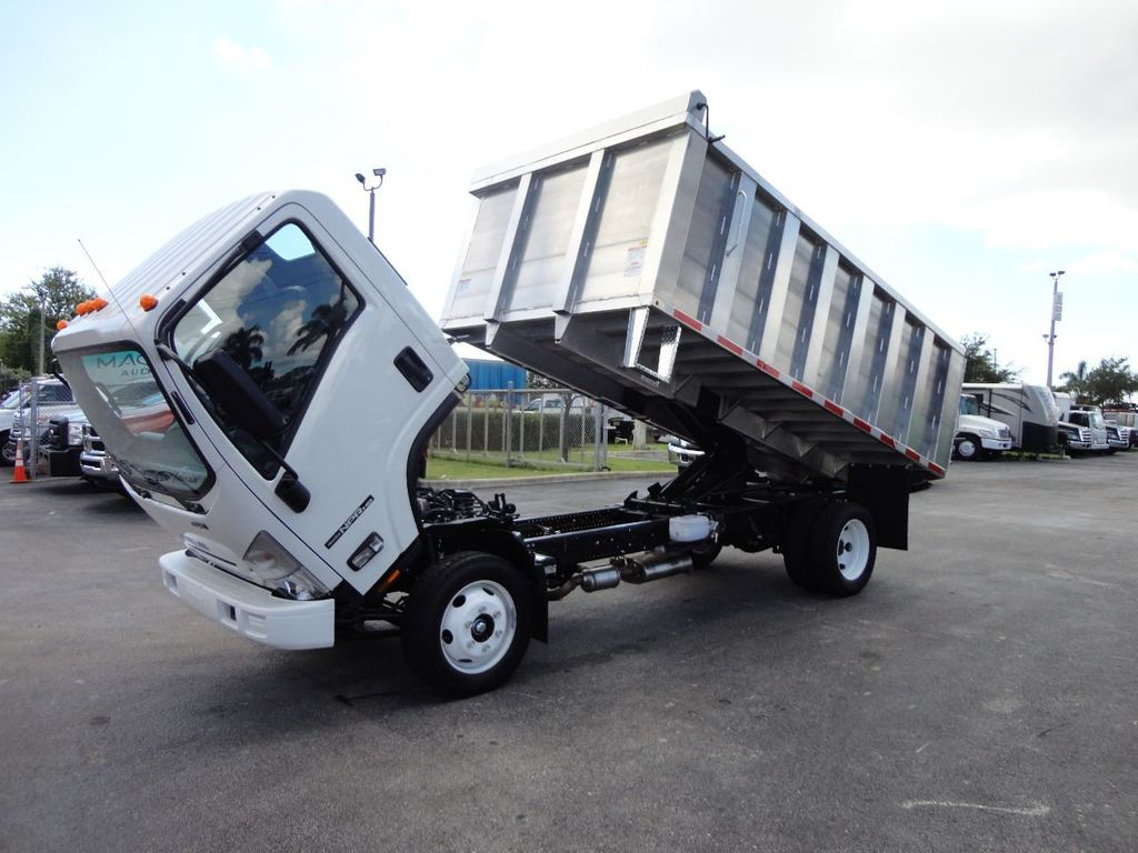 2018 Isuzu NPR HD 14FT ALUMINUM LANDSCAPE DUMP TRUCK ADVANCED FABRICATORS - 18156713 - 14