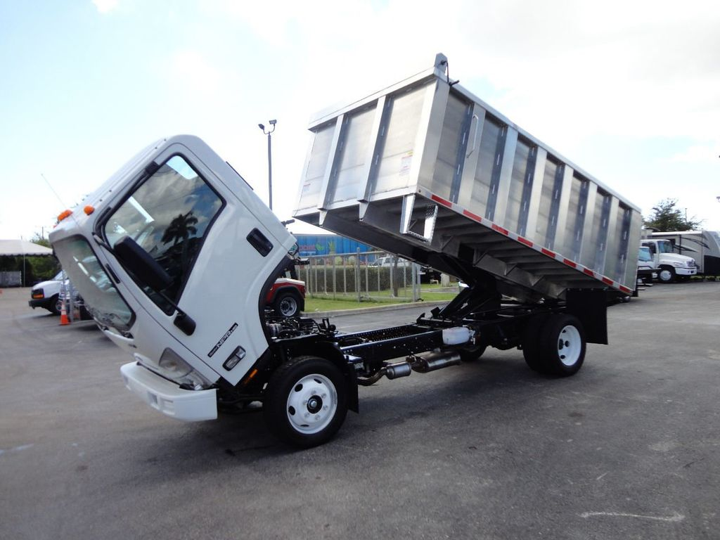 2018 Isuzu NPR HD 14FT ALUMINUM LANDSCAPE DUMP TRUCK ADVANCED FABRICATORS - 18156713 - 1