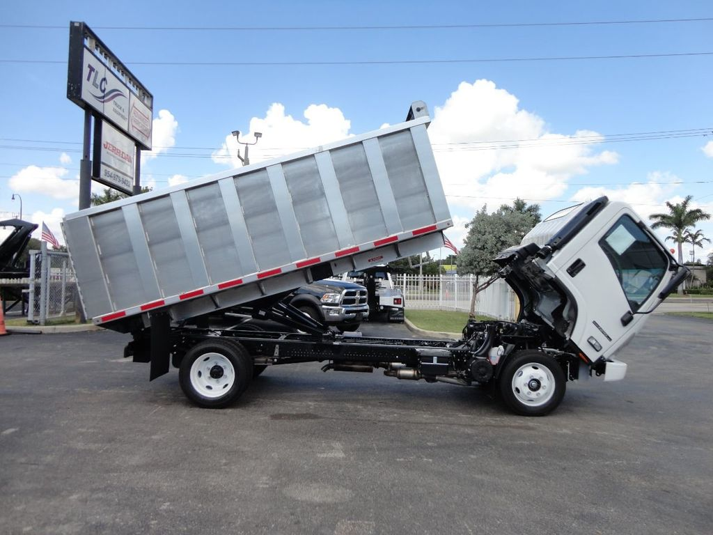 2018 Isuzu NPR HD 14FT ALUMINUM LANDSCAPE DUMP TRUCK ADVANCED FABRICATORS - 18156713 - 6