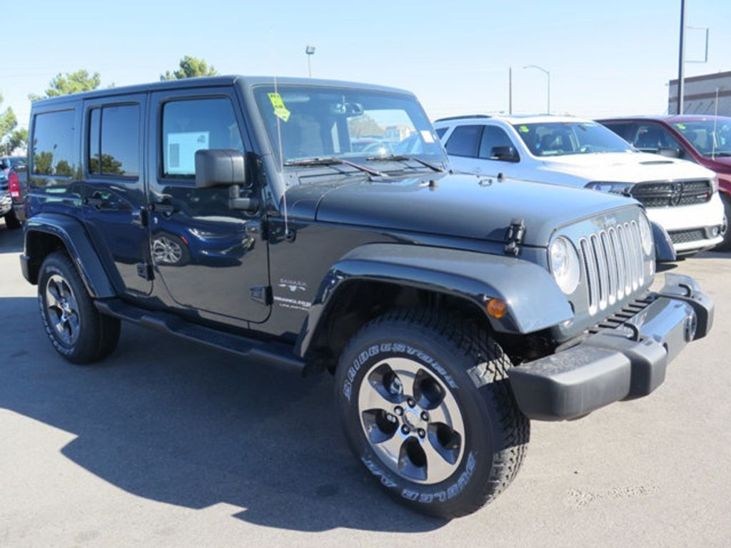 2018 new jeep wrangler jk unlimited sahara 4x4 at prestige. Black Bedroom Furniture Sets. Home Design Ideas
