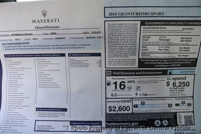 2018 Maserati GranTurismo Sport 4.7L - 17154934 - 38