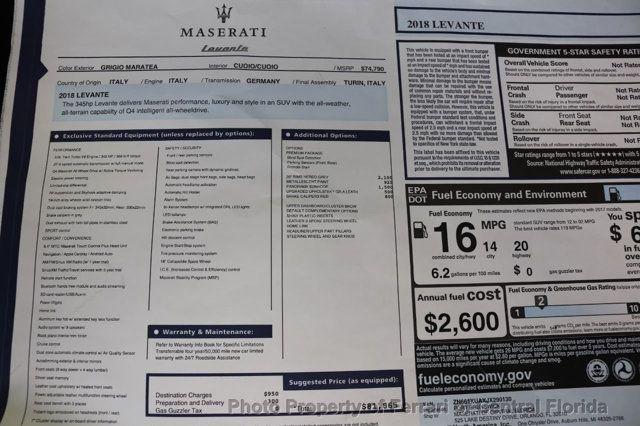 2018 Maserati Levante 3.0L - 17496542 - 43