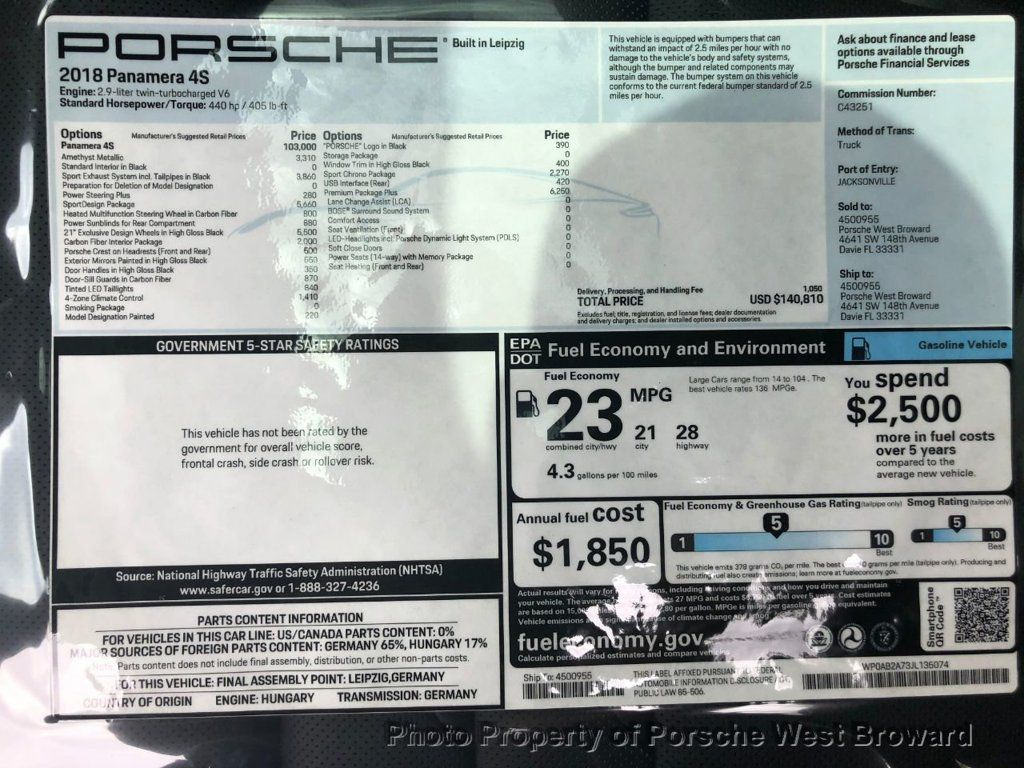 2018 Porsche Panamera 4S - 18682547 - 27